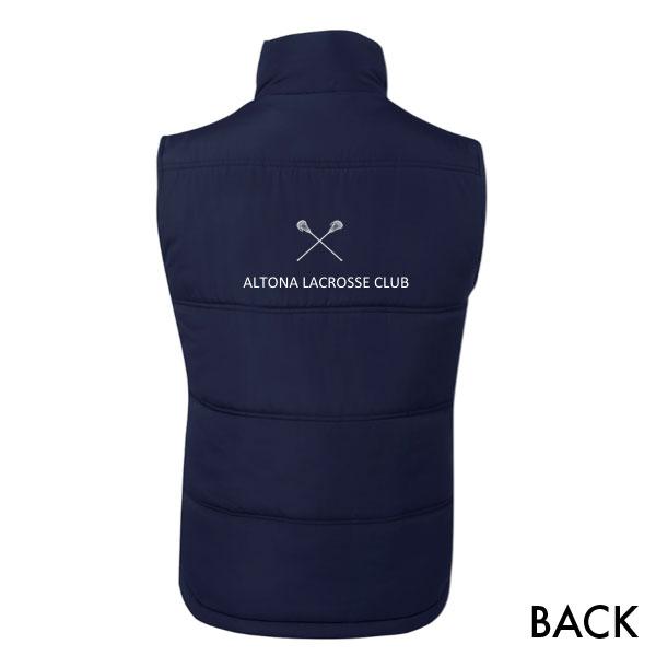 Altona Lacrosse Club puffy vest - back